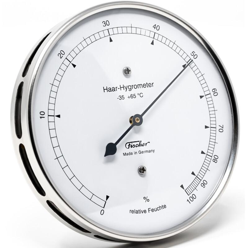 Fischer Wetterstation Haar-Hygrometer Edelstahl 111.01